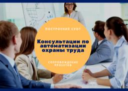 Консультации по автоматизации охраны труда Сопровождение специалистов по охране труда при осваивании программных продуктов